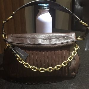 Banana Republic pebble satchel suede & leather